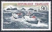 France 1974 Lifeboat  /  Boat  /  Rescue  /  Nautical  /  Emergency  /  Safety  /  Transport 1v (n23467)