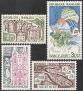 France 1974 Tourism/ Buildings/ Cattle/ Sea/ Boat/ Architecture 4v set (n32283)