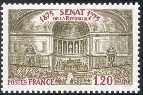 France 1975 Senate/ Politics/ Government/ Palace/ Buildings/ Architecture 1v (n43369)