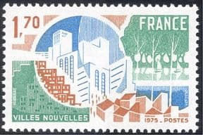 France 1975 Urban Development/ Buildings/ Architecture/ Houses/ People/ Parks/ Sailing Boats/ Leisure 1v (n43367)