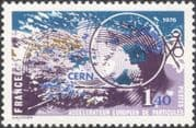 France 1976 CERN/ Nuclear Science/ Physics/ Particle Accelerator 1v (n42466)