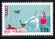 France 1976 Concorde/ Plane/ Rugby/ Cable Car/ Goose/ Birds/ Sports/ Grapes 1v (n29287)