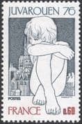 "France 1976 ""Juvarouen 76""/ Girl/ Cathedral/ Buildings/ StampEx 1v (n43625)"