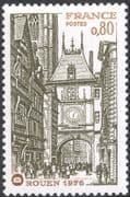 France 1976 Philatelic Congress/ Rouen/ Clock Tower/ Buildings/ Architecture/ Heritage   1v (n43823)