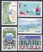 France 1976 Regions  /  Concorde  /  Butterfly  /  Goose 5v  n31882