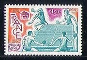 France 1977 French Table Tennis Federation 50th Anniv/ Sports/ Games 1v (n30139)