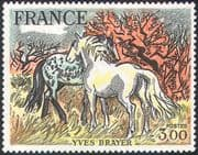 France 1978 Carmargue Horses/ Art/ Paintings/ Animals/ Nature 1v (b9168)