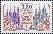 France 1978 Cathedral/ Church/ Clock Tower/ Town Gate/ Buildings/ History 1v (n46142)