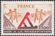 France 1978 Convalescents/ Disabled/ Medical/ Health/ Welfare/ Tractor 1v (n45317)