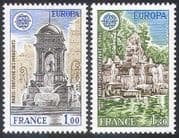 France 1978 Europa  /  Fountains  /  Buildings  /  Architecture  /  Design 2v set (n33073)