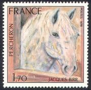 France 1978 Pecheron/ Horse/ Art/ Painting/ Animals/ Nature Conservation 1v (n23660)
