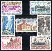 France 1978 Tourism/ Bridge/ Church/ Chateau/ Abbey/ Gorge/ Buildings/ Architecture 7v set (n30135)