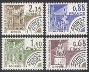 France 1979 Cathedrals  /  Forts  /  Buildings  /  Architecture  /  Towers  /  Pre-cancel 4v n33076