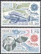 France 1979 Europa/ Planes/ Aircraft/ Aviation/ Air Mail/ Transport 2v set (n24298)