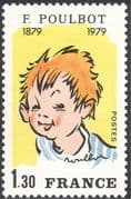 France 1979 Francisque Poulbot/ People/ Cartoons/ Animation/ Comics/ Art/ Artists 1v (n43850)