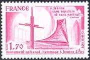 France 1979 Joan of Arc/ Cross/ Monument/ People/ History/ Church/ Religion 1v (n44212)