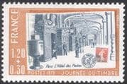 France 1979 Stamp Day/ Post Office Buildings/ Architecture/ Post/ Mail/ Stamp-on-Stamp/ S-on-S 1v (n43852)
