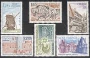 France 1979 Tourism  /  Buildings  /  Windmill  /  Mill  /  Rock Paintings  /  Art 6v set (n38681)