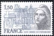 """France 1980 Heritage Year/ """"Marianne""""/ Architecture/ Buildings/ History/ Animation 1v (n43375)"""