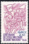 France 1981 Military/ Army/ Soldiers/ St Maixent Academy/ Sports/ Horses/ Fencing 1v (n43373)