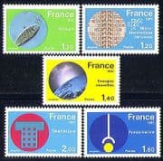 France 1981 Technology  /  Science  /  Energy  /  Space 5v (n30146)