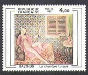 France 1982 Balthus  /  French Art  /  Painting  /  Artists  /  Nude  /  Naked Woman 1v (n37122)