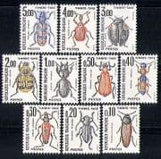 France 1982 Beetles  /  Nature  /  Insects  /  Postage Due  /  To Pay 10v set (n29801)