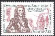 France 1982 Cavelier de la Salle/ Louisiana/ Sailing Ship/ Explorer/ Exploration/ People/ Ships/ Boats/ Maps/ Transport 1v (n43840)