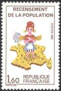 "France 1982 ""Marianne""/ Census/ Population/ People/ Map/ Animation 1v (n43844)"