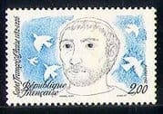 France 1982 St Francis  /  Doves  /  Birds  /  Nature  /  Assisi  /  People  /  Religion 1v (n29250)