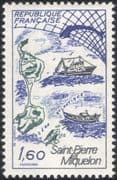 France 1982 Whale/ Boats/ Fishing/ St Pierre-Miquelon/ Industry/ Tourism/ Transport 1v (n31115)