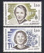 France 1983 Albrecht  /  Levy  /  People  /  WWII  /  Resistance  /  Heroines  /  Military 2v (n38256)