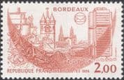 France 1984 Philatelic Congress/ Bordeaux/ Horses/ Clock Tower/ Cathedral/ Buildings 1v (n45312)