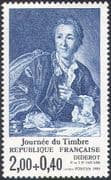 France 1984 Stamp Day/ Denis Diderot/ Writers/ Authors/ Literature/ Philosophy 1v (n42456)