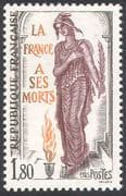 France 1985 Memorial Day/ Marianne/ Flame/ Fire/ Art/ Animation 1v (n41890)