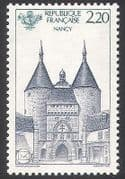 France 1986 Nancy  /  Gate  /  Fortifications  /  Buildings  /  Architecture  /  Philately 1v n40709