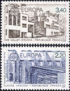 France 1987 Europa/ Buildings/ Architecture/ Design/ Architects 2v set (n33070)