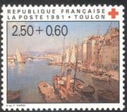 France 1991 Red Cross Fund/ Medical/ Health/ Welfare/ Boats/ Art/ Paintings/ TYransport 1v (n43151)