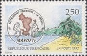 France 1992 Mayotte/ Overseas Departments/ Politics/ People/ Map/ Trees 1v (n45934)