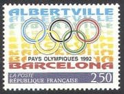 France 1992 Olympic Games  /  Olympics  /  Sports  /  Rings  /  Animation 1v (n40689)