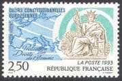 France 1993 Human Rights/ Liberty/ Maps/ People/ Conference/ Statue 1v (n41269)