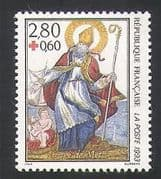 France 1993 Red Cross  /  Medical  /  Health  /  Saint 1v (n31883)