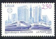 France 1993 Trains  /  Locomotives  /  Rail  /  Railways  /  Transport  /  TGV  /  Eurostar 1v (n32123)