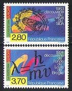 France 1994 Europa  /  AIDS  /  Medical  /  Physics 2v set (n31353)