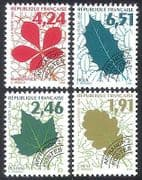France 1994 Leaves  /  Trees  /  Plants  /  Nature  /  Pre-cancel 4v set (n40253)