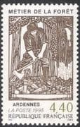 France 1995 Forestry/ Trees/ Industry/ Lumberjack/ Business/ Commerce/ Workers 1v (n31348)