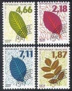 France 1996 (1994) Leaves  /  Trees  /  Plants  /  Nature  /  Pre-cancel 4v set (n40251)