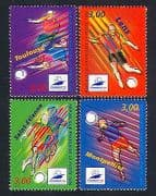 France 1996 Football  /  World Cup  /  WC  /  Sports  /  Games  /  Animation 4v set (n32952)