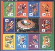 France 1997 Football World Cup Championships/ WC/ Sports/ Games/ Soccer/ Animation 10v sht (n43820)