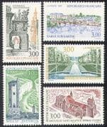 France 1997 Tourism  /  Garden  /  Cathedral  /  Bridge  /  Tower  /  Buildings  /  Church 5v set n39702